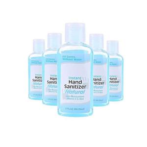Yetişkin Ev Mini Temizleyici Wash ile 5Pcs / 60ML Anti Bakteriyel Tek El Temizleyici El Dezenfeksiyon Jel Hızlı Kuru Handgel% 75 Etanol