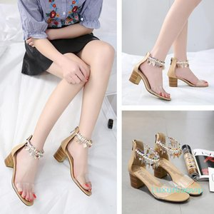 Pretty2019 Coarse Comfortable Sandals Toe Latest Fashion Non-slip With Woman Shoes 40