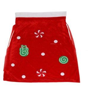 Presente de Natal Hot Sale Decoração de Santa Sacks cordão de Santa Saco Grande presente Noel saco personalizado