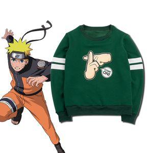 Milky Way Anime Naruto sudadera con capucha Shadow Clone Technique Kage Bunshin No Jutsu Hoodie Unisex Mangas largas Tops MicroPlush Sudadera