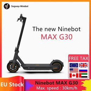 Ninebot original de Segway MAX G30 inteligente Scooter eléctrico plegable 65 kilometros Kilometraje Max KickScooter doble freno monopatín con APP