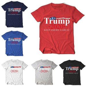 Trump T-Shirt Keep America Great шею с коротким рукавом Общие Избирательные товары 6 цветов Партия Фавор DHF589