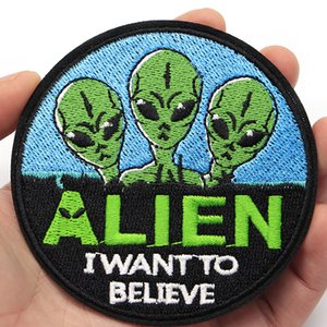 100pcs lot Space Alien Embroidery Patch Sewing DIY Customise Iron On Patches for Clothes Backpack Stickers Hat Bag Applique C246
