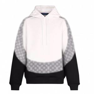 19FW Jacquard Monogram Color Matching Felpa con cappuccio Splice Uomini Donne Classic Pullover Autunno Inverno Maglione Via Outwear HFYMWY325