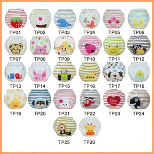 2020 A Lot Of Newest Embroidery Animal Prints Baby Training Pants Potty Trainers 50 Pieces Free Shipping