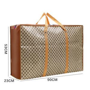 Tamaño extra grande de bolsas de la compra impresión de la manera tejida Bolsa 2020 Bolsa de Nueva Bolsa de almacenamiento de lujo de asas para hacer al por mayor 6 Estilos