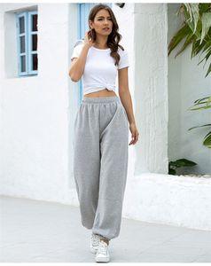 Mode Frauen Lose Bleistift Hosen Weibliche Sommer Hohe Taille Hosen Casual Reine Farbe Kleidung