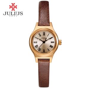 JULIUS Montres de femmes JA-964 2017 New Spring Edition Limitée Noir Marron Blanc Cuir Montre de Luxe Designer Horloge Montre Femme