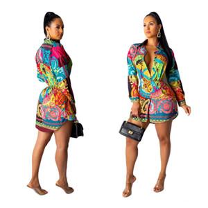 J1900 cross-border women's fashion shirt skirt women's long skirt full size spot
