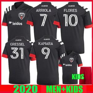 2020 2021 DC DC Estados Fútbol 20 21 Home Gressel FLORES ARRIOLA KAMARA MLS mujeres y niños camisetas de fútbol KIT DE superior de Tailandia