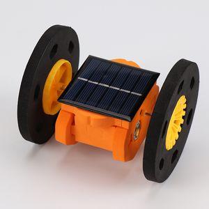 손으로 만든 과학 기술 태양 에너지 제조 이륜 균형 장치 소형 발명 재료 어린이 실험 완구