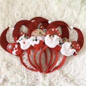 Рождество Группы волос Красного Elk Снежинка медведь мультфильм обруч оголовье Фестиваль Украсьте Headwear 2 1HQ UU