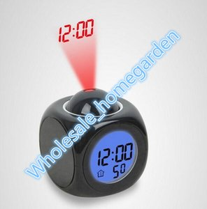 New Fashion Attention Projection Digital Weather LED Snooze Alarm Clock Projector Color Display LED Backlight Bell Timer