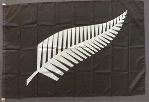 * 150cm Tüy bayrağı 90 Polyester Yeni Zelanda Herhangi Custom Stil Tüy Bayrak Banner 3x5 ft Asma Yeni Uçan yazdır