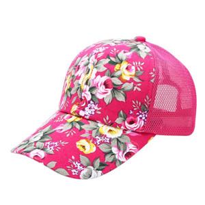 Mesh Cool Outdoor Sun Cap Summer Women Female Floral Hat Hiking Cap Sports Sun Hat Cap 6 Colors High Quality