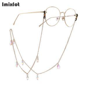 Moda Gota de agua Colgante Gafas Cadena Cristal Anteojos Gafas de sol Lectura Gafas Cordón Cordón Correa para el cuello Cuerda Para Gafas