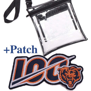 Clear Purse Stadium Approved Bag + PATCH with Zipper and Shoulder Strap Stadium Approved Clear bag follows