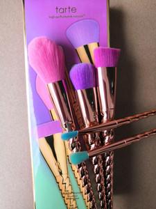 pincéis de maquiagem conjuntos de cosméticos escova 5 cor brilhante rosa ouro espiral shank make-up escova unicórnio ferramentas de maquiagem de parafuso
