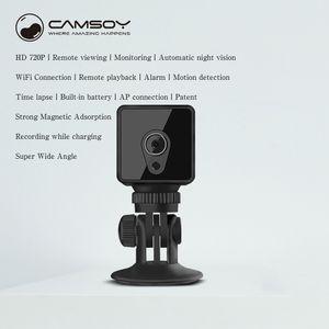 سمارت واي فاي كاميرا صغيرة يمكن ارتداؤها S1 HD 720P رؤية الليلية مصغرة DV DVR كاميرا لاسلكية المراقبة عن بعد كاميرا فيديو