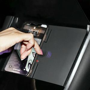 Doble 10W doble de carga rápida de control inalámbrico del teléfono móvil del cargador del coche de carga inalámbrica Junta para Tesla Model 3