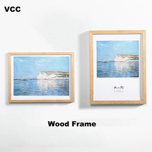 Nature Wooden Classic Picture Frame Photo A4 A3 Black White Coffee Wood Color Certificate Frames Pictures Poster Frame Photos