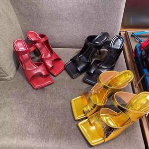 Nouveau Desinger Femmes Chaussons 2020 Summer Place élégante toe à talons Robe Slides Ladies flip flops Party Sandales