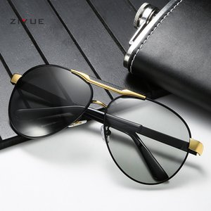 Die neue Art und Weise polarisierte Sonnenbrille für Männer Sonnenbrille Froschspiegel auf die Farbe wechseln