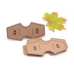 Nueva Moda Collar de Papel Kraft Tarjetas 4.5x9.6 cm 1000 unids es Personalizado Logo Exhibición de la Joyería Tarjeta de Embalaje de Joyería de Navidad