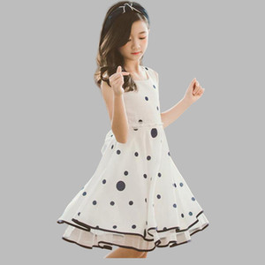 Dress For Girls Fashion Dot Party Dress Girls Sleeveless Kids Dresses Summer Elegant Kids Tutu Dress For Girls 6 8 10 12 14