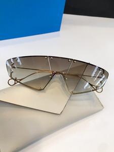 100902 Fashion Nuovi occhiali da sole firmati Occhiali da sole retrò senza cornice Occhiali stile punk vintage Protezione UV400 di alta qualità con scatola