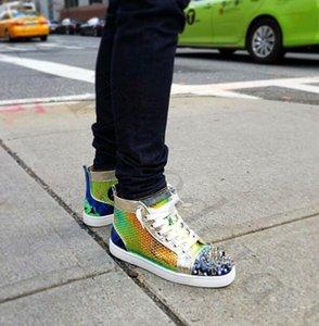 Confort Casual Chaussures Habillées High Sneaker Hommes Casual Cuir Pik Pik Spikes Chaussures Designer Femmes Loisirs Baskets Pik-Bis Sneakers