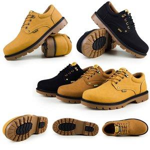 Männer Art und Weise Frauen niedriger Cowboy-Stiefel nicht Marke 2020 neue Ankunfts Farbe gelb schwarz grau Größe 39-46