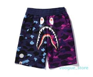 Pantalones cortos de verano Luxury LUX Pantalones de playa para hombre con pantalones cortos de tiburón Pantalones de diseñador de moda de camuflaje Letras Hasta la rodilla Pantalones cortos sueltos M-XXL