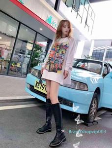 Sıcak Satış-modelleri high-end deri uzun çizme tasarımcı modelleri moda ayakkabılar son kravat modelleri kişiselleştirilmiş motosiklet bayan bot 35-41 002