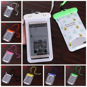 Viagem de Verão Telefone Waterproof Bag PVC Protecção Mobile Phone Bag Mergulho Bolsa de Natação Sports 5.5inch universal telefone Capa Para BC BH1440
