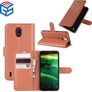 Para Nokia C1 superior de la PU de la carpeta del tirón del cuero con ranura para tarjetas Volver cubierta de bolsa para Nokia 5.3 1.3 3