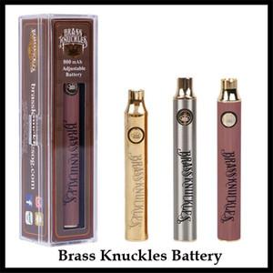 Batteria di tirapugni in ottone più calda 650mAh 900mAh Penna Vape regolabile in legno oro argento per 510 cartucce Abracadabra collegate