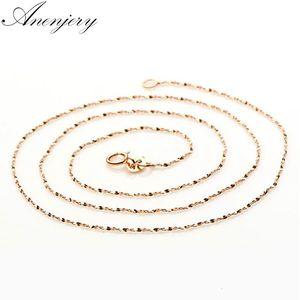 925 Sterling Silver Star цепь розовое золото ожерелье цвета Используйте для Подвески Подвески Женщины Colar (диаметр 1,5 мм)