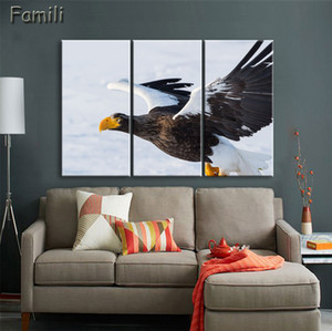 3 Piece Unframed HD Animal Canvas Painting Birds and Flowers Wall Sticker Pictures All Art Decoration Picture for Living Room