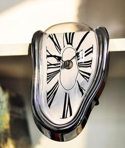 Fusion surréel Distorted Horloges murales Surréaliste Salvador Dali Style de mur Montre Décoration cadeau
