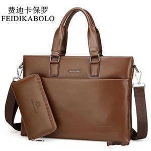 Inch Feidikabolo Fashion Laptop Men Handbags Briefcase 14 High Quality Pu Leather Shoulder Bags Men Travel Bags Bolsa Male Bags