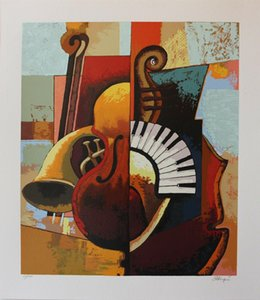 Framed & Unframed-Igor Kovalev Symphony III Music Instruments Home Decor Handcrafts  HD Print Oil painting On Canvas Wall Art Picture 191206