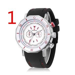 Le cadeau d'anniversaire de la table d'affaires de la montre pour hommes d'affaires décontractée haut de gamme de wu's pour hommes 3654 #