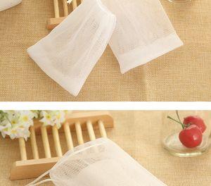 Nueva ampolla de jabón Bubble Net Mesh Jabón de lavado de cara Redes de espuma Bolsa de malla de jabón Manual Bolsa Accesorios de baño