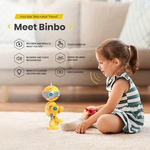 DEERC Robots Jouets Mini Parler intelligent Enfants d'éducation pour enfants Humanoïde Toy Sense Inductive RC Robot Y200414