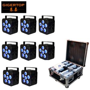 8en1 de carga Flightcase embalaje 6x18W 6en1 RGBAW UV energía de la batería inalámbrica Lámpara PAR LED, LED delgado Par puede Evento, partido del disco