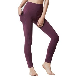 High Waist Leggings For Fitness Yoga Pants with Pocket Mesh Polyester Stretch Gym Tights Workout Leggings Femme Running Pants XL