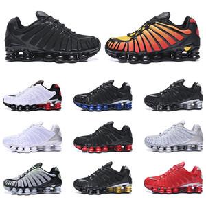 Nike Shox TL Hommes Chaussures de course Triple Noir Pure White Platinum Clay orange Sunrise vitesse Red Formateurs sport Chaussures de sport Taille 40-46