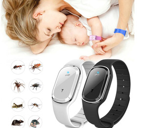 Ultrasonic Mosquito Repellent Bracelet Electronic Repellent Watch Kids Anti Mosquito Repellent Bracelet Outdoor Display Time Wrist LSK48
