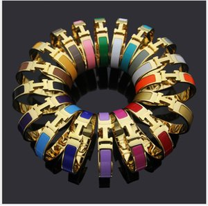 12 millimetri di larghezza h in acciaio bracciale in titanio oro 18 carati per gli uomini e le donne